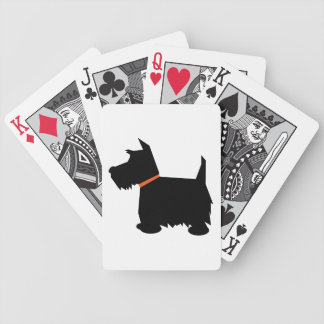 Scottish Terrier dog beautiful black silhouette Bicycle Playing Cards