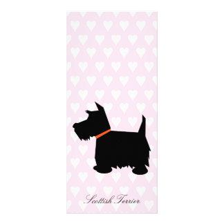 Scottish Terrier dog black silhouette bookmark Custom Rack Card
