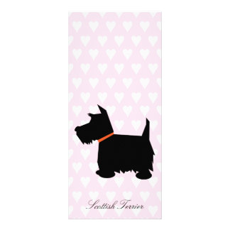 Scottish Terrier dog black silhouette bookmark Rack Card Template
