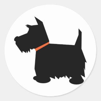 Scottish Terrier dog black silhouette sticker