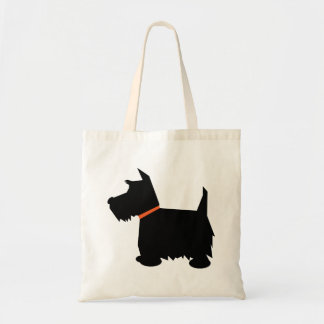 Scottish Terrier dog black silhouette tote bag