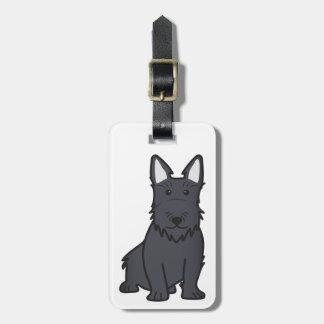 Scottish Terrier Dog Cartoon Luggage Tag