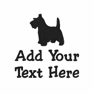 Scottish Terrier Dog Custom Personalized Embroidered Shirt