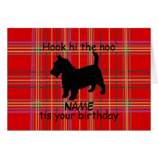 Scottish Terrier Dog Customise Card, Scots dialect Card