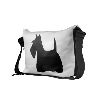 Scottish Terrier dog cute black silhouette, gift Commuter Bags