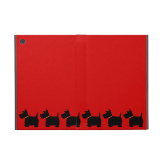 Scottish Terrier dog cute black silhouette, gift iPad Mini Covers