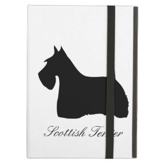 Scottish Terrier dog cute silhouette custom, gift iPad Air Covers