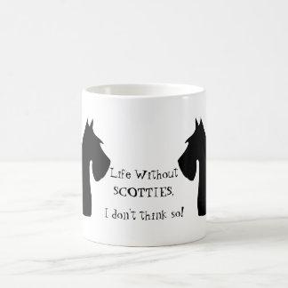 Scottish Terrier dog, life without scotties mug
