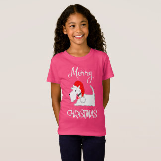 Scottish Terrier Dog Merry Christmas Cute Graphic T-Shirt