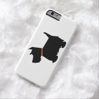 Scottish terrier dog, scottie dog black silhouette barely there iPhone 6 case