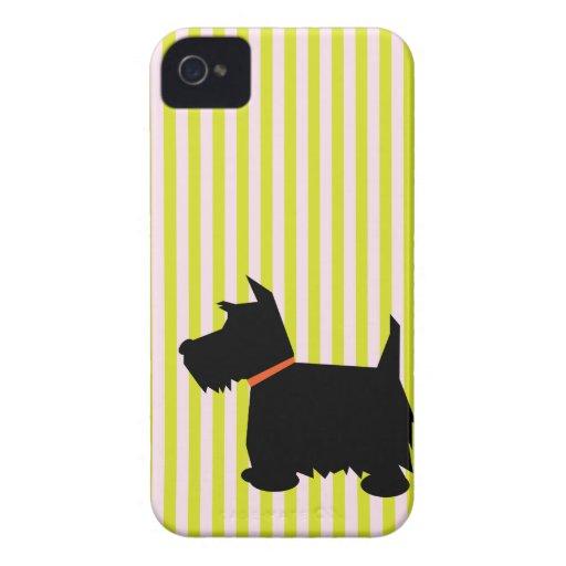 Scottish Terrier dog silhouette blackberry case