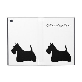 Scottish Terrier dog silhouette custom boys name iPad Mini Cover