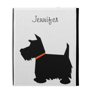 Scottish Terrier dog silhouette custom girls name iPad Folio Cases