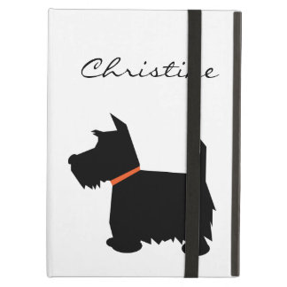 Scottish Terrier dog silhouette custom girls name iPad Cover