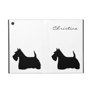Scottish Terrier dog silhouette custom girls name Cover For iPad Mini