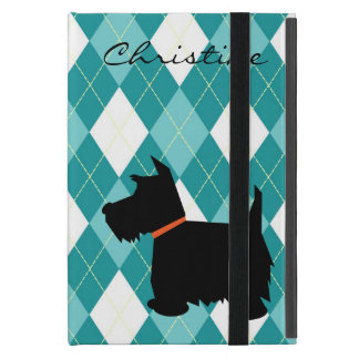 Scottish Terrier dog silhouette custom girls name iPad Mini Cover