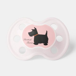Scottish Terrier dog silhouette custom soother
