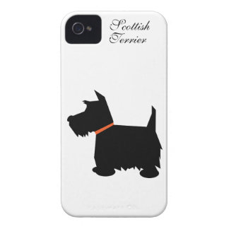 Scottish Terrier dog silhouette iphone 4 case