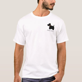 Scottish Terrier dog silhouette logo mens t-shirt