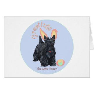 Scottish Terrier Easter Card