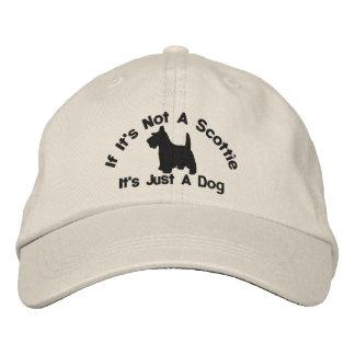 Scottish Terrier Funny Dog Slogan Embroidered Baseball Cap