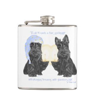 Scottish Terrier Goodnight Hip Flask