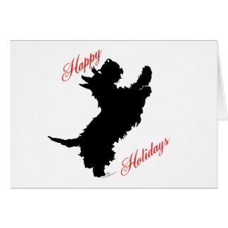 Scottish Terrier Happy Holidays Card
