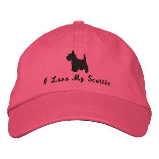 Scottish Terrier  I Love My Scottie Dog Customized Embroidered Hat