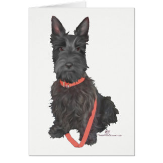 Scottish Terrier in Red Collar Card