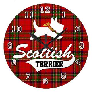 Scottish Terrier Large Clock