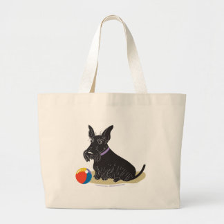 Scottish Terrier Large Tote Bag