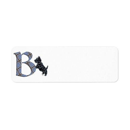 Scottish Terrier Monogram B Return Address Label