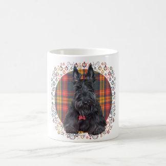 Scottish Terrier on Tartan Coffee Mug