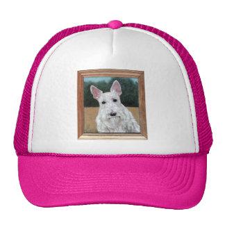 Scottish Terrier Painting Trucker Hat