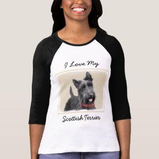 Scottish Terrier Painting - Cute Original Dog Art T-Shirt