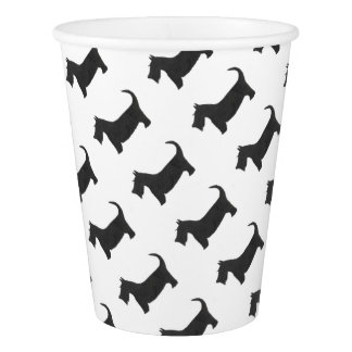 Scottish Terrier Paper Cup