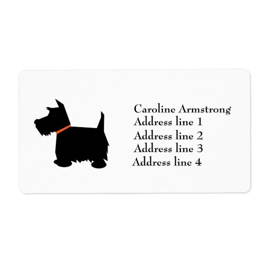 Scottish Terrier  personalised address labels