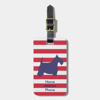 Scottish Terrier Personalize Luggage Tag