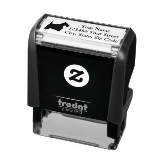 Scottish Terrier Personalize Self-inking Stamp