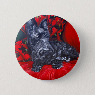 Scottish Terrier Portrait Haggis 6 Cm Round Badge