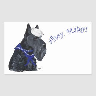 Scottish Terrier Sailor Rectangular Sticker