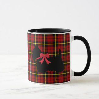 Scottish Terrier, Scotland dog, Brick red plaid Mug