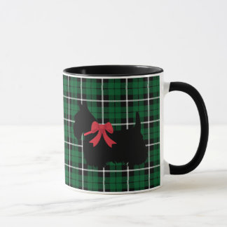 Scottish Terrier, Scotland dog, Kelly green plaid Mug