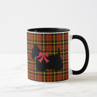 Scottish Terrier, Scotland dog, orange plaid Mug