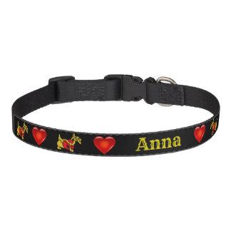 Scottish Terrier, Scottie, celtic, red heart Pet Collar