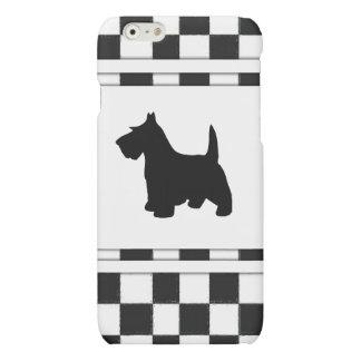 Scottish Terrier Scottie Dog Black and White Check