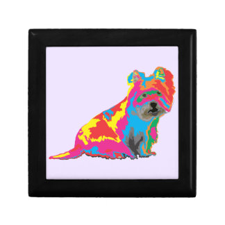 scottish terrier small square gift box