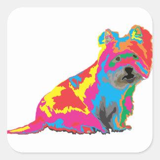 scottish terrier square sticker