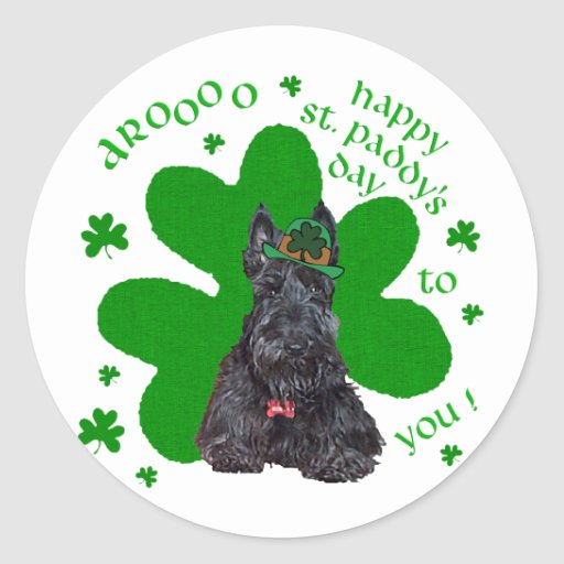 Scottish Terrier St. Paddys Day Stickers