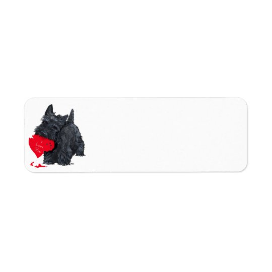 Scottish Terrier Valentine Return Address Label
